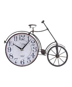 Take a look at this Bicycle Wall Clock by UMA Enterprises on #zulily today!