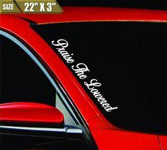 Praise The Lowered Windshield Banner Vinyl Decal Bumper Sticker JDM  For Honda   eBay