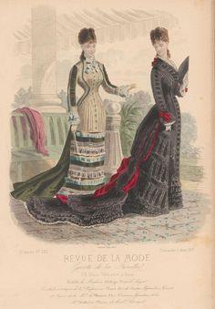 Fashion plate, 1877, France.