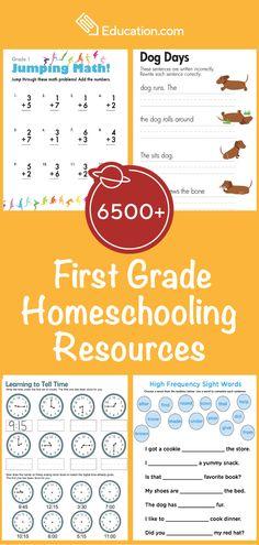6500+ First Grade Homeschooling Resources