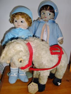 MABEL LUCIE ATTWELL DOLLS and 'MOKEY' by Chad Valley c1930s (Mike W collection)