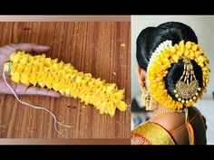 how to make rose flower jadai veni for bride. how to make flower veni step by step. Flower Garland Wedding, Flower Garlands, Bridal Flowers, Flower Decorations, How To Make Rose, How To Make Paper Flowers, Indian Hair Accessories, Flower Embroidery Designs, Aari Embroidery