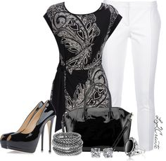 """""""Spring Trend - B/W 2"""" by lv2create on Polyvore"""