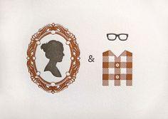 She is a cameo, he is a plaid shirt & glasses