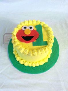 Elmo Smash Cake The Twins 2nd Birthday Party Ideas Pinterest