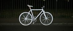 Volvo's reflective Life Paint turns bicycles and clothes into high-visibility objects.