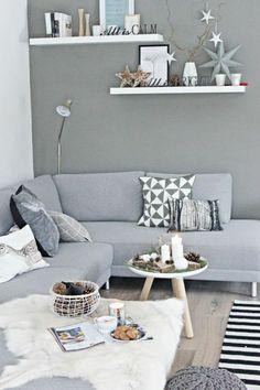 skandinavisch einrichten Ecksofa in Grau (Cool Rooms In Houses)