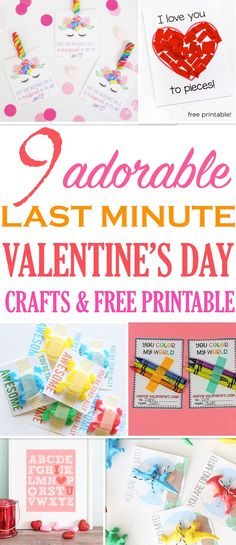 Valentine's Day is around the corner. If you're finding yourself unprepared or need easy crafts for the kids, these are perfect. Grab these free printable DIY ideas and get creative. #valentinesday #craftsforkids #crafts #diy #easycrafts