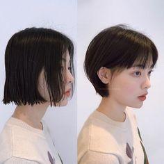 Pin by Syuan Yui on Hair Style Shory Hair, Cut My Hair, Tomboy Hairstyles, Pixie Hairstyles, Shot Hair Styles, Curly Hair Styles, Girl Short Hair, Short Hair Cuts, Korean Short Hair