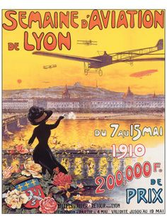 Semaine D'Aviation de Lyon Premium Giclee Print