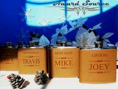 Personalized Groomsmen Gift, 1 Leather Engraved Flask, Groomsmen Flasks on Etsy, $9.50