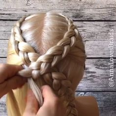 Crossed Dutch Braid Tutorial / Braid Hairstyles Tutorials Braid hairstyle has always been a symbol of beauty. Therefore, hairstyles with braids remain the most trendy and fashionable to this day. Braided Hairstyles Tutorials, Box Braids Hairstyles, Dutch Braid Tutorials, Braided Hairstyles For Long Hair, Softball Hairstyles, Hair Tutorials, Pretty Hairstyles, Wedding Hairstyles, Curly Hair Styles