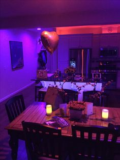 Our house on Valentine's Night.