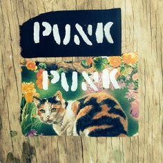 Back Patch // Punk Patch // Floral // Cat on Etsy, $3.00