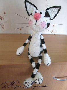 Мария Лукоянова Crochet Animal Patterns, Crochet Stitches Patterns, Stuffed Animal Patterns, Amigurumi Patterns, Crochet Animals, Love Crochet, Crochet Gifts, Crochet Dolls, Crochet Baby