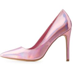 Charlotte Russe Holographic Pointed Toe Pumps (545 MXN) ❤ liked on Polyvore featuring shoes, pumps, heels, pink, обувь, charlotte russe shoes, pink shoes, iridescent shoes, pointed toe shoes and pointy toe pumps