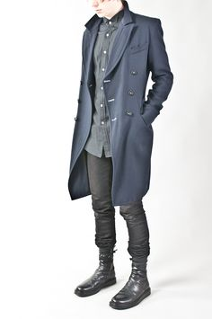 asymmetric double breasted long jacket — re. porter