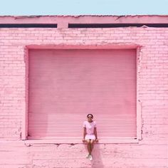 pink wall & outfit