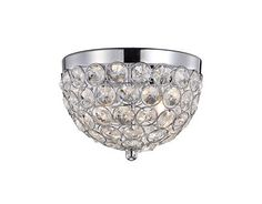 533102 | Gregor 8.625 Inch 2 Light Chrome Flushount - 533102