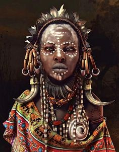 Http://Travelnerdnici.Com more cg art, mursi tribe, african tribal makeup,