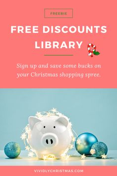 Sign up for the free and save some bucks on your Christmas shopping spree. Or use these perks to treat yourself all year long! #discount #christmasgifts #christmasshopping Christmas Design, Christmas Diy, Christmas Decorations, Free Vouchers, Library Signs, Advent Calendars For Kids, Advent Wreath, Gift Certificates, Shopping Spree