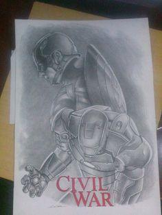 Ilustração guerra civil-Edi santos  Illustration Civil War-Edi santos.
