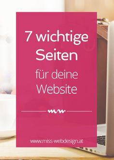 Diese 7 Seiten braucht jede erfolgreiche Website | http://miss-webdesign.at | Wissenswertes für Gründer und Startups