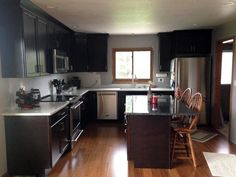 """Get your kitchen cookout-ready! >>> """"We completely remodeled our kitchen, running bamboo flooring throughout the dining room and kitchen."""" – Sue, OH {Carbonized Bamboo}"""