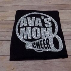Cheer Mom Shirt | Proud Cheer Mom Shirt | Cheerleading Mom T-Shirt | Glitter Cheer Shirt | Personalized Cheer Shirts | Personalized Cheer by BlissGiftShop on Etsy