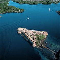 Fortress of St. Nicholas, located in front of the town of Šibenik, is one of the strongest maritime fortification architecture on the Croatian Coast of the Adriatic Sea.