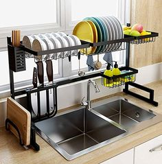 tinyhousecourses Love this over the sink dish rack! Great space saver for tiny homes. ___________________________________________ tinyhousecourses Love this over the sink dish rack! Great space saver for tiny homes. Kitchen Organization, Kitchen Storage, Kitchen Decor, Storage Area, Kitchen Ideas, Kitchen Supplies, Kitchen Drying Rack, Organization Ideas, Kitchen Dining