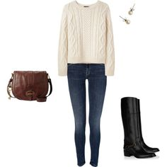 simple outfits for fall...planning on wearing lots of cozy sweaters, cute boots, and pearls.