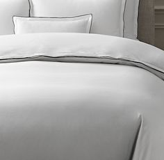 Italian Tipped Satin Stitch Duvet Cover (I immediately saw the beauty in this. Only Cal King and Twin left in the duvet Italian-tipped Satin Stitch.)