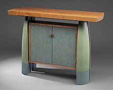 "Split-Leg Console by Mark Del Guidice (Wood Hall Table) (36"" x 54"")"