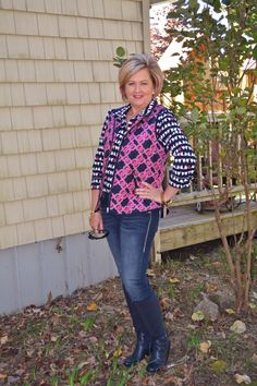 Fashion over 40. Puffer Vest styling