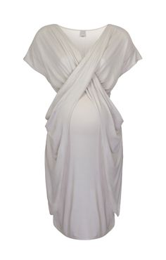 Caress your bump with the softest jersey and exquisite draping with this stunning Keungzai Drape Dress.