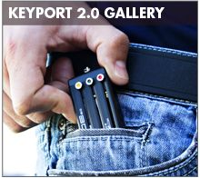 """Keyport - The Keychain: """"Reinvented"""" - The Keyport Slide 2.0 holds up to 6 keys and/or other everyday carry tools in a high-tech chassis about the size of a box of Tic Tacs. Keyport's secret sauce to creating its minimalist system is replacing the wide range of large, oddly shaped key heads with its own patented, universal head that is only slightly larger than the shank of the key itself... website: http://mykeyport.com"""