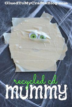Recycled CD Mummy - Kid Craft
