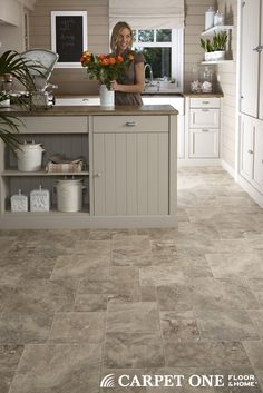 Gentil Vinyl Flooring Works Great In Kitchens And Comes In A Wide Variety Of  Styles.