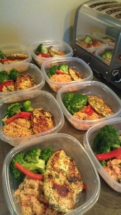 Fresh dill rubbed chicken pan seared in canola oil. Served with fresh tomato quinoa with lemon butter and steamed broccoli. Healthy meals for busy family schedules, food allergies and dietary restr...