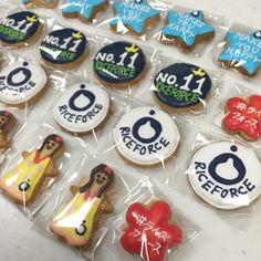 ライスフォースさんのクッキー Ppr, Icing, Sugar, Cookies, Desserts, Food, Crack Crackers, Tailgate Desserts, Deserts