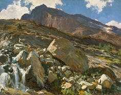"John Singer Sargent, ""Simplon Pass"", 1911, oil on canvas. American Masterworks from the Corcoran, 1815-1940"