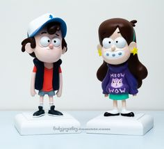 Dipper & Mabel sculpture made by me Photographed by my father Sculpted with Super Sculpey Firm over a wire armature. Mabel was made in December 2013 Dipper was made in March 2014 Gravity Falls Dipper, Gravity Falls Bill Cipher, Cute Polymer Clay, Polymer Clay Crafts, Clay Figures, Action Figures, Dipper E Mabel, Dipper Pines, Monster Falls