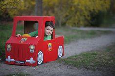 tekturowa straż pożarna - zabawki z kartonu | trzymyszy.pl