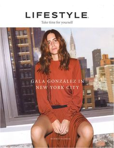Gala Gonzalez wearing Louis Vuitton Spring Summer 2017 Collection by Nicolas Ghesquière on the cover of Lifestyle Brazil.