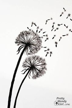 Tutorial for Painting Dandelion Wall Graphic