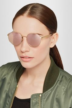 Ray-Ban | Round-frame gold-plated mirrored sunglasses | NET-A-PORTER.COM