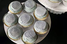 Disco ball cupcakes with glittered fondant toppers