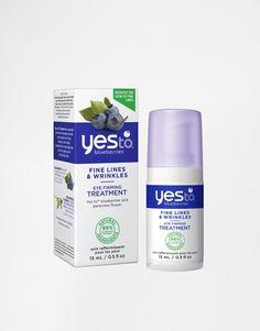 Augencreme von Yes To aus 95% natürlichen Inhaltsstoffen angereichert mit Antioxidantien, Bienenwachs und Jambú hilft bei der Reduzierung feiner Linien und verbessert die Elastizität der Haut Produktgröße: 15 ml