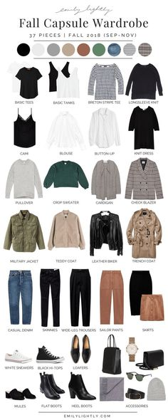 My Fall 2018 Capsule Wardrobe - Emily Lightweight // Slow Fashion, Sustainable Style . My Fall 2018 Capsule Wardrobe - Emily Lightweight // Slow Fashion, Sustainable Style, Minimalist Outfit Inspiration , My Fall 2018 Capsule Wardrobe - . Capsule Wardrobe 2018, Fall Wardrobe, Wardrobe Basics, Wardrobe Ideas, Staple Wardrobe Pieces, Basic Wardrobe Essentials, Slow Fashion, Trendy Fashion, Womens Fashion